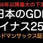 日本のGDP成長率マイナス25%の予測! 1929年の世界恐慌と比較しました