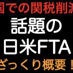 米国での関税削減!!日米FTAのざっくり概要を解説しました!