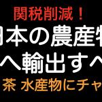 関税削減!!日本の農産物はEUへ輸出すべきです 和牛・日本酒は販売拡大のチャンス!!